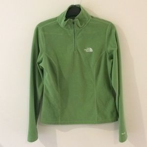The North Face Pea Green Fleece Pullover